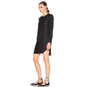James Perse Dresses - JAMES PERSE Sanded Satin Long Sleeve Shirt Dress